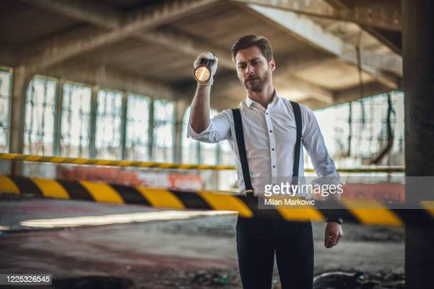 after the murder, criminal inspectors work at the crime scene - action movie stock pictures, royalty-free photos & images