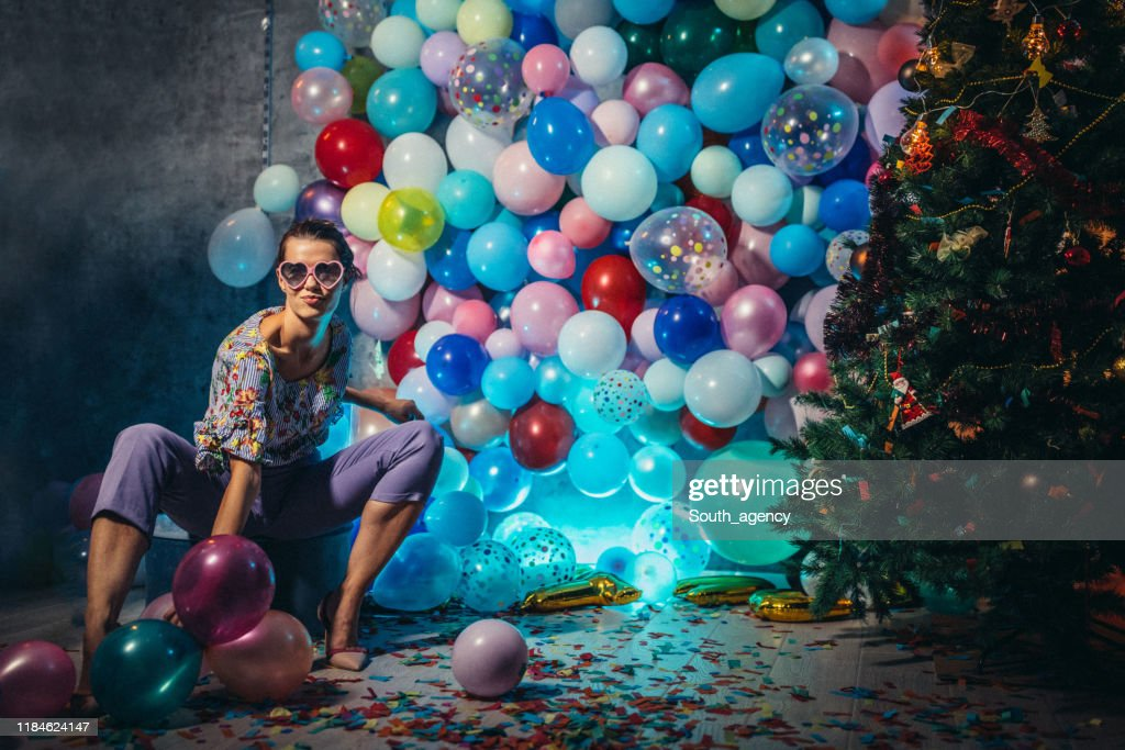 After the new year party : Stock Photo