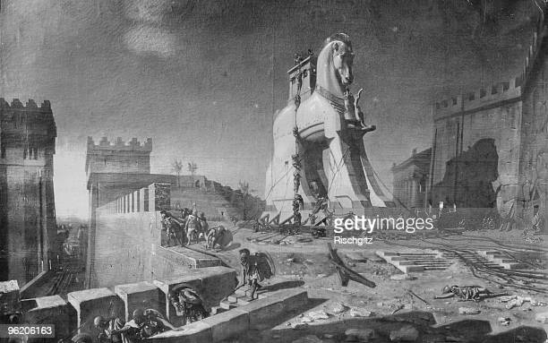 After the people of Troy brought the mysterious Wooden Horse into their city the Greek army climb down from inside and take over the city winning the...