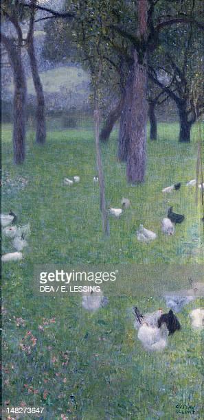 After the rain by Gustav Klimt oil on canvas 80x40 cm Vienna Österreichischer Galerie Belvedere