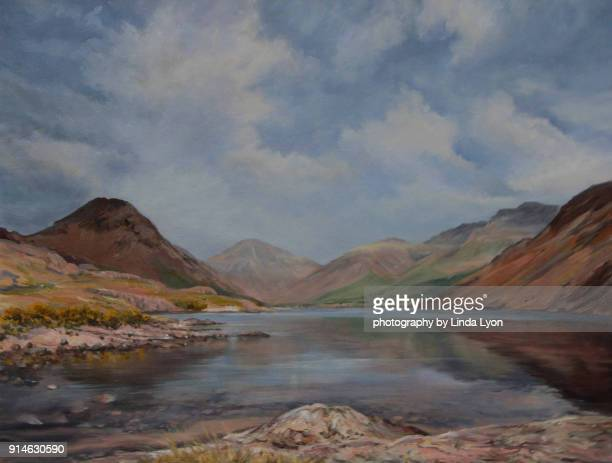 After the rain, Wastwater Oil Painting