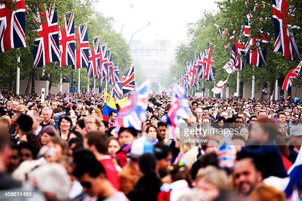 after the royal wedding - the mall westminster stock photos and pictures