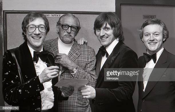 After the show Hank Marvin Bruce Welch and Brian Bennett made time to sign a photograph for the theatre dooman Eric Birch 17th May 1977