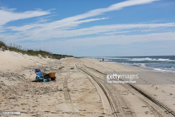After vacationers where evacuated from the Outer Banks few people are left to populate the beaches at Hatteras Island on August 2 2017 Nearly a week...