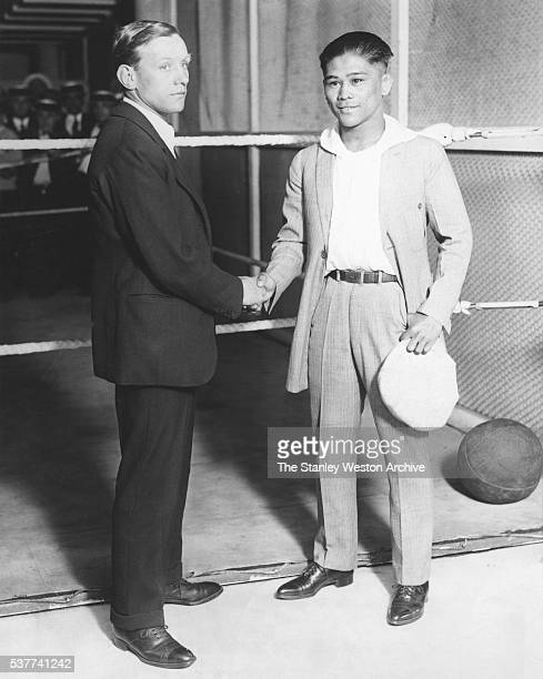 After weighing in at O'Brien's Gymnasium before the bout that night at the Polo Grounds Pancho Villa and Jimmy Wilde shook hands and wished each...