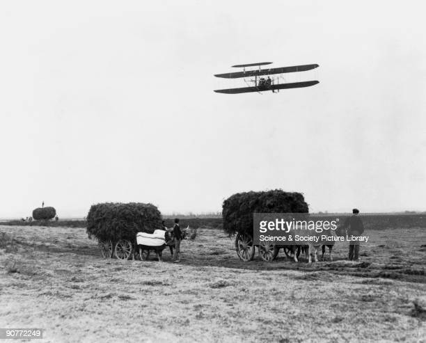 After Wilbur's sensational flights near Le Mans in 1908 the brothers moved to Pau to start a flying school Their demonstration flights attracted...
