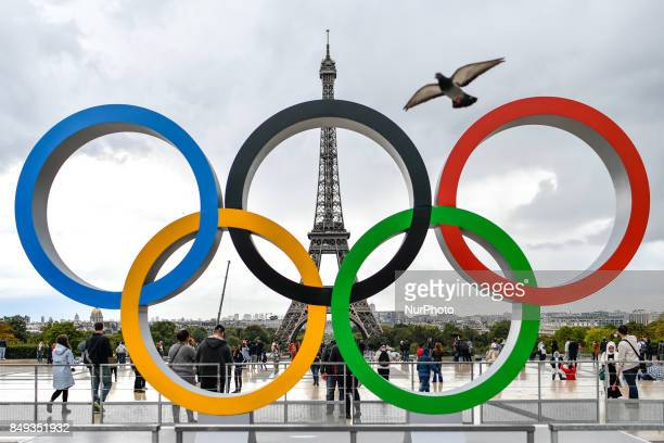 After wining the 2024 olympic organisation Paris put the Olympics Rings at the place of Honor in front of the Eiffel tower at the Trocadero' s place...