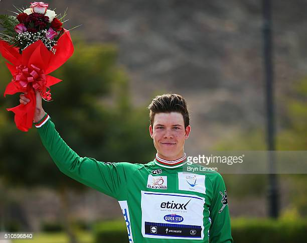 After winning stage one Bob Jungels of Luxembourg and Etixx Quick Step also took the points jersey at the 2016 Tour of Oman a 145km road stage from...