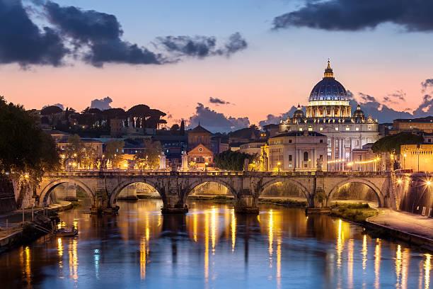 Afterglow, St Peter's Basilica, Rome, Italy Wall Art