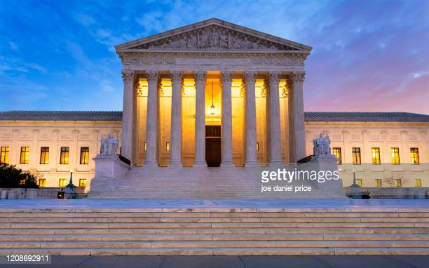 afterglow, united states supreme court building, washington dc, america - constitution stock pictures, royalty-free photos & images