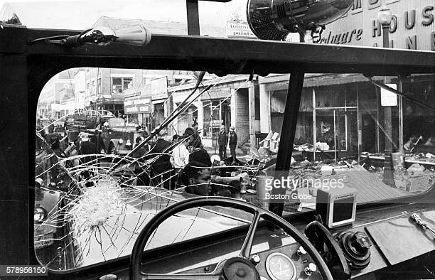 Aftermath of a riot in the Grove Hall area of Roxbury Mass on June 2 1967 The riot began after a silent sitin protest against Boston's welfare...