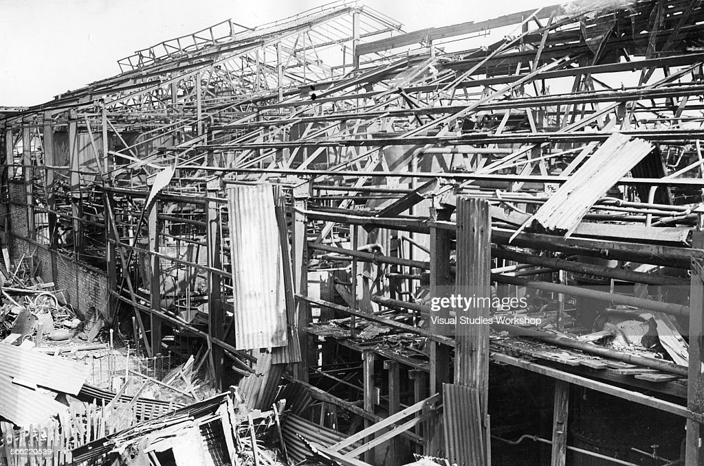 Aftermath Of An Explosion At A Factory In Mitcham, London : News Photo