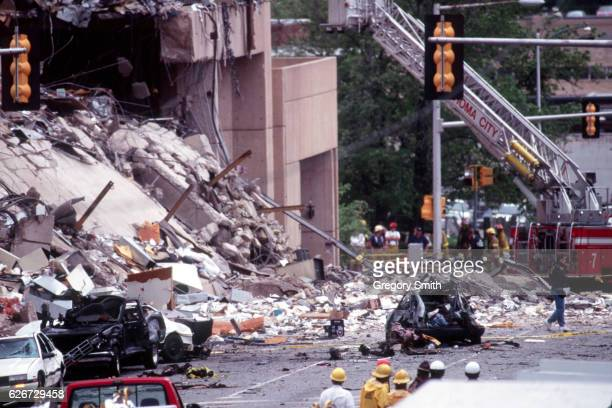 Aftermath of the bombing of the Alfred P Murrah Federal building Photo by Greg Smith/Corbis SABA