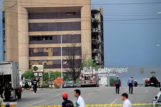 Aftermath of the bombing of the Alfred P Murrah Federal Building