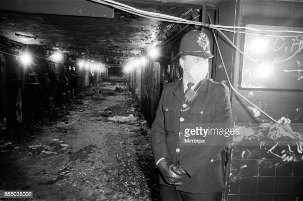 Aftermath of the fatal fire at King's Cross St Pancras tube station 31 people died in the tragedy which was most probably by a lit match being...