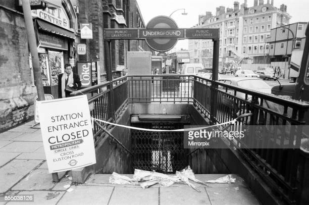 Aftermath of the fatal fire at King's Cross St Pancras tube station, 31 people died in the tragedy, which was most probably by a lit match being...