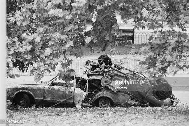 Aftermath of the Hyde Park bombing which killed four soldiers London UK 21st July 1982