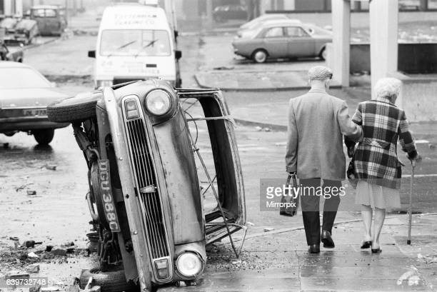 Aftermath of the riots which broke out in the Broadwater Farm estate in Tottenham North London The riot started the day after local resident Cynthia...