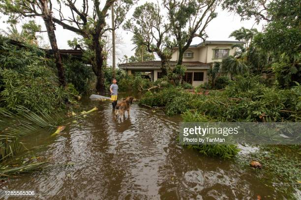 aftermath of the super typhoon goni in naga city. - 危機管理 ストックフォトと画像