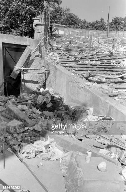 Aftermath Scene of Disaster Thursday 30th May 1985 Juventus v Liverpool 1985 European Cup Final Heysel Stadium Brussels Wednesday 29th May 1985...