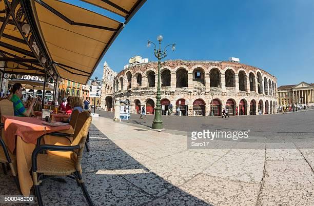 Pomeriggio in Piazza Bra, Verona, Italia