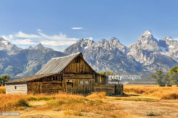 afternoon at ta moulton barn - grand teton national park stock pictures, royalty-free photos & images