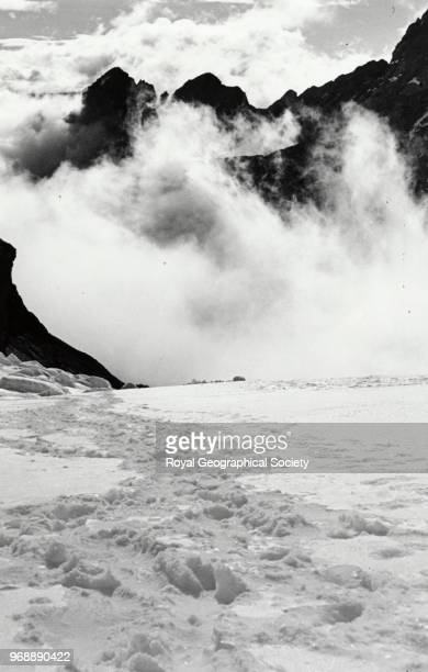 Afternoon clouds build up signaling the start of the monsoon China 1936 Mount Everest Expedition 1936