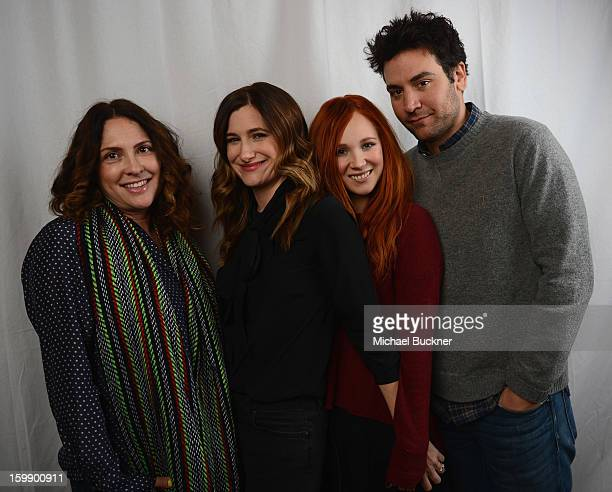 Afternoon Delight producer Jill Soloway Kathryn Hahn Juno Temple and Josh Radnor pose for a portrait at the Photo Studio for MSN Wonderwall at...