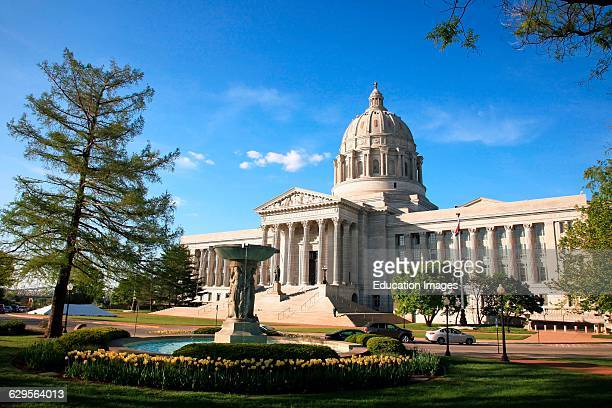 Afternoon sunlight on the state capitol building in Jefferson City Missouri on a spring afternoon Jefferson City is located in the center of Missouri...