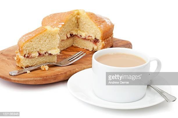 afternoon tea and cake - andrew dernie stockfoto's en -beelden