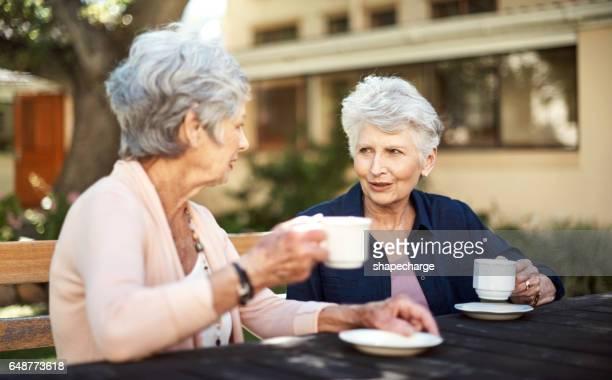 Am Nachmittag Tee und Chit chat