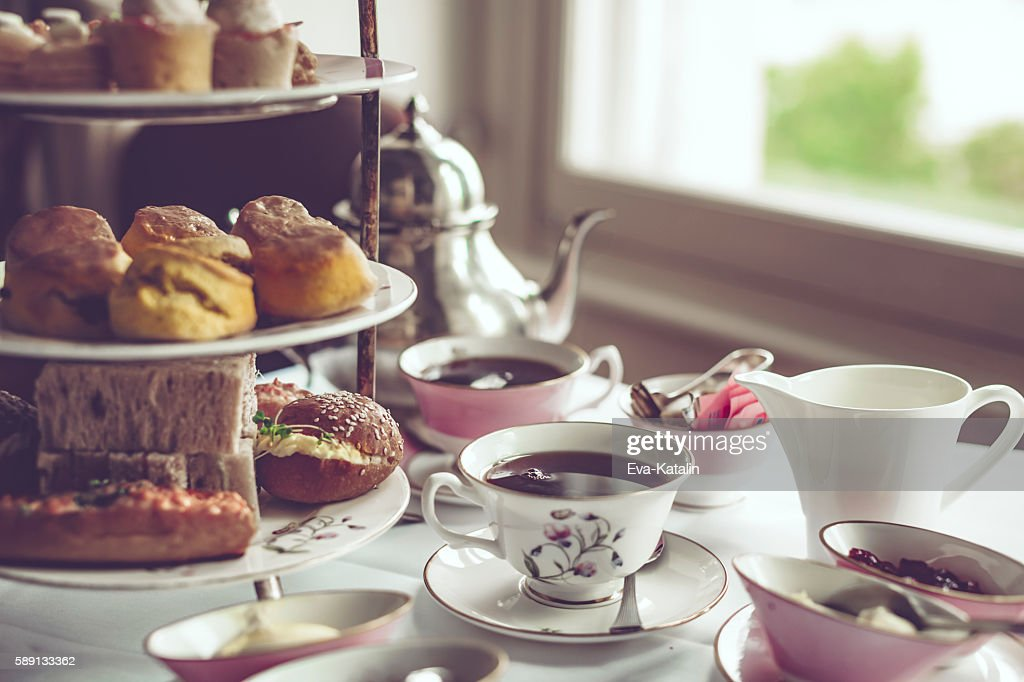 Afternoon tea for two : Stock Photo