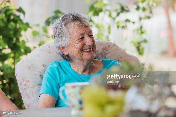 afternoon tea - the ageing process stock pictures, royalty-free photos & images