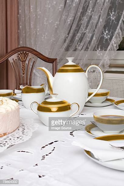 afternoon tea - sugar bowl crockery stock photos and pictures