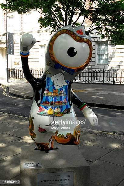 CONTENT] Afternoon Tea Wenlock Olympic Mascot public art sculpture installed temporarily in Mayfair London during the 2012 games