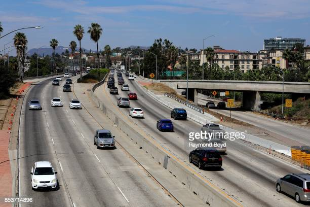 Afternoon traffic on the 101 Freeway in Los Angeles California on September 10 2017