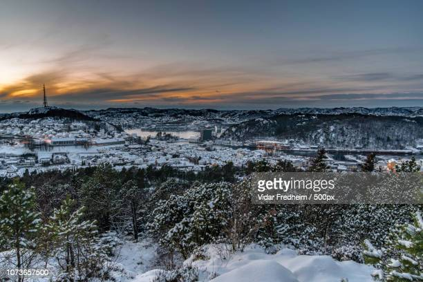 afternoon view towards egersund - egersund stock photos and pictures