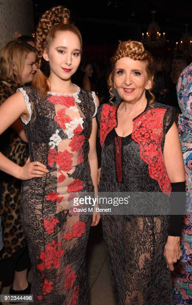 Afton McKeithMagaziner and Gillian McKeith attend Cool Earth's 10th birthday party with SUSHISAMBA on January 30 2018 in London England