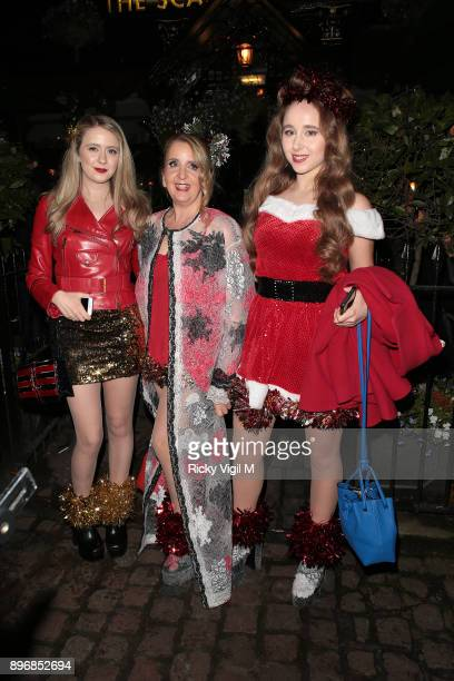 Afton McKeithMagaziner Gillian McKeith and Skylar McKeithMagaziner seen attending Piers Morgan Christmas party at Scarsdale Tavern on December 21...