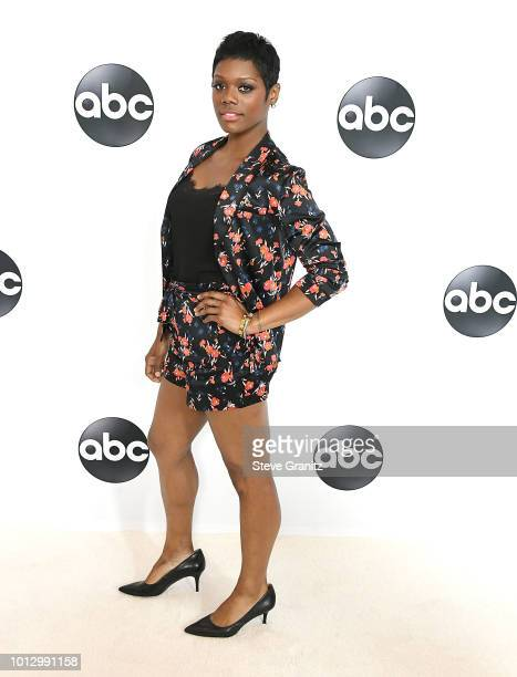 Afton Williamson arrives at the Disney ABC Television Hosts TCA Summer Press Tour at The Beverly Hilton Hotel on August 7 2018 in Beverly Hills...