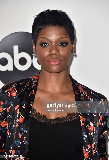 Afton Williamson attends the Disney ABC Television TCA Summer Press Tour at The Beverly Hilton Hotel on August 7 2018 in Beverly Hills California