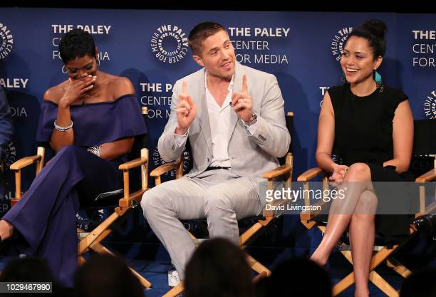 Afton Williamson Eric Winter and Alyssa Diaz from 'The Rookie' appear on stage at The Paley Center of Media's 2018 PaleyFest Fall TV Previews ABC at...