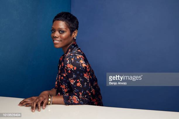 Afton Williamson of ABC's 'The Rookie' poses for a portrait during the 2018 Summer Television Critics Association Press Tour at The Beverly Hilton...