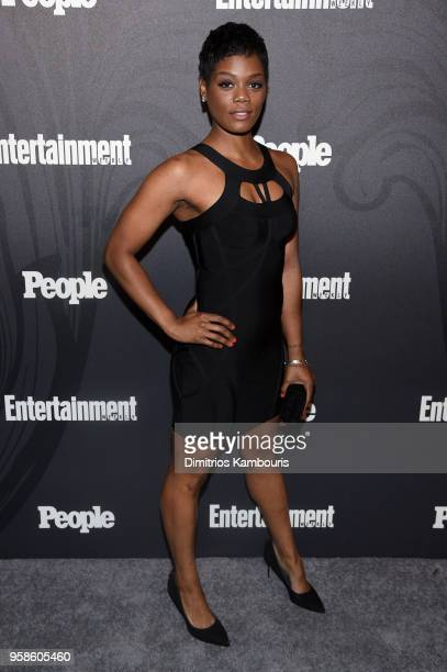 Afton Williamson of Shades of Blue attends Entertainment Weekly PEOPLE New York Upfronts celebration at The Bowery Hotel on May 14 2018 in New York...