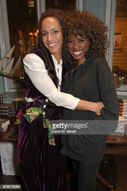 Afua Hirsch and June Sarpong attend the launch of the 'London's Big Read' campaign in celebration of World Book Day at LIBRARY on March 1 2018 in...