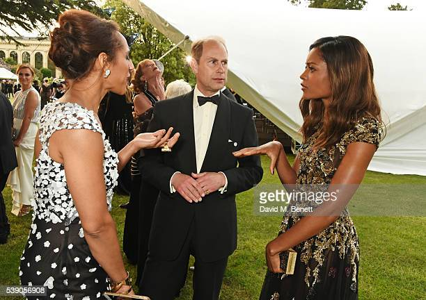 Afua Hirsch Prince Edward Earl of Wessex and Naomie Harris attends the Duke of Edinburgh Award 60th Anniversary Diamonds are Forever Gala at Stoke...