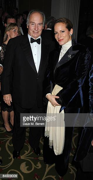 Aga Khan and his daughter Princess Zahra Aga Khan attend the Cartier Racing Awards 2008 at the Grosvenor House Hotel on November 17 2008 in London...