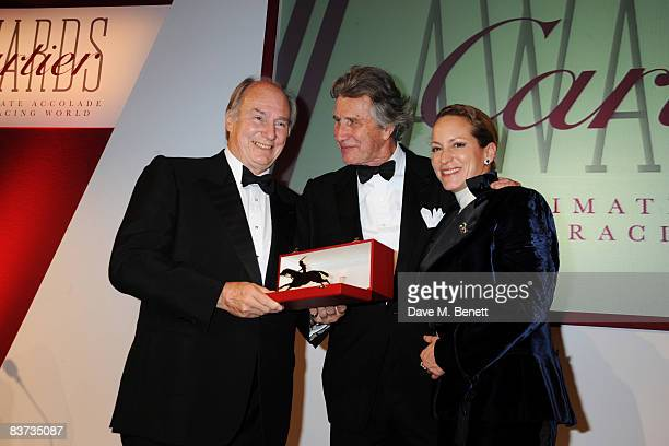 Aga Khan Arnaud Bemberger and Princess Zarha Aga Khan attend the Cartier Racing Awards 2008 at the Grosvenor House Hotel on November 17 2008 in...