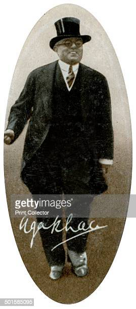 Aga Khan III 1935 A print from the photo album Popular Personalities issued for Piccadilly Juniors Oval Photos 1935