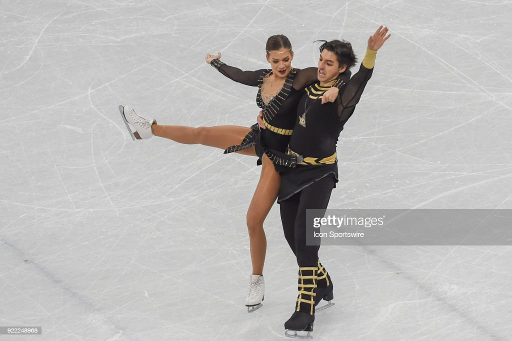 Agafonova Alisa and Alper Ucar (TUR) skate in the free dance of the Ice Dancing competition during the 2018 Winter Olympic Games at the Gangneung Ice Arena on February 20, 2018 in PyeongChang, South Korea.